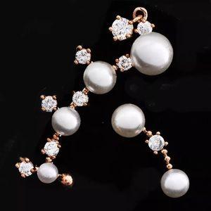 Gold Pearl & Stone Ear Cuff Set